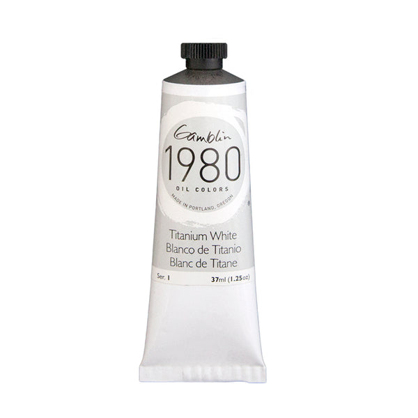 Gamblin 1980 Oil 7810 Titanium White 37 Ml