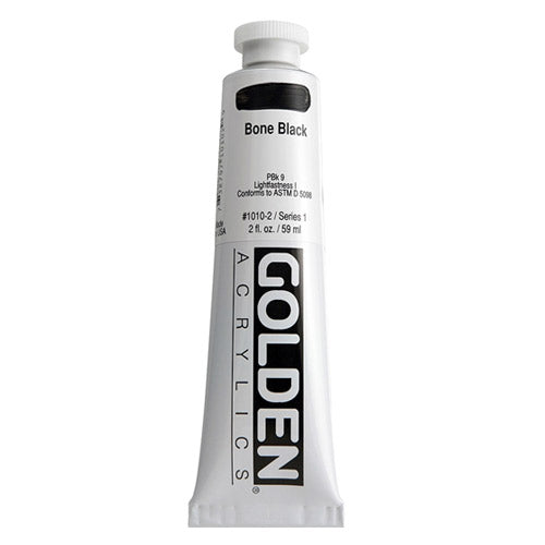 Golden Heavy Body Acrylic 0001010-2 Hb Bone Black 2 Oz / 59 Ml