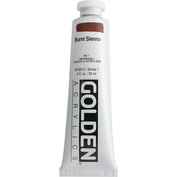 Golden Heavy Body Acrylic 0001020-2 Hb Burnt Sienna 2 Oz / 59 Ml