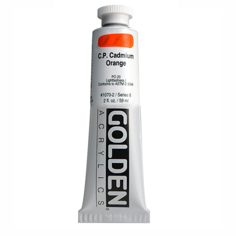 Golden Heavy Body Acrylic 0001070-2 Hb C.P. Cadmium Orange 2 Oz / 59 Ml