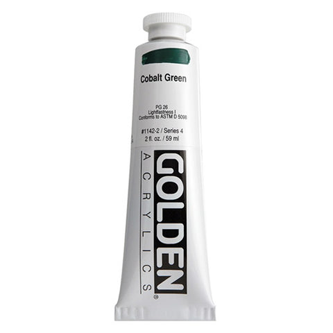 Golden Heavy Body Acrylic 0001142-2 Hb Cobalt Green 2 Oz / 59 Ml