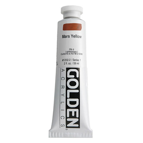 Golden Heavy Body Acrylic 0001202-2 Hb Mars Yellow 2 Oz / 59 Ml