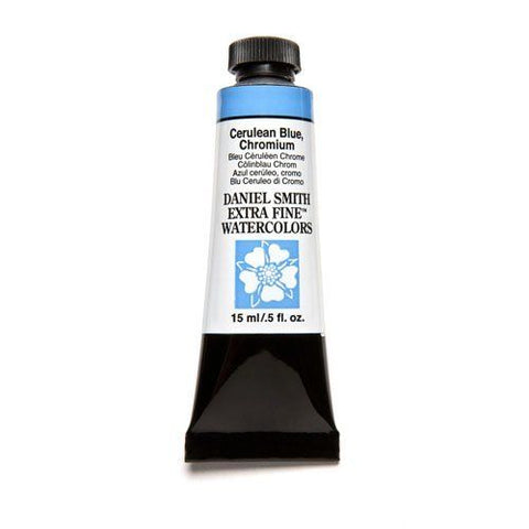 Daniel Smith Extra Fine Watercolor Paint Tube 284600021 15 Ml Cerulean Blue, Chromium