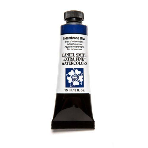 Daniel Smith Extra Fine Watercolor Paint Tube 284600043 15 Ml Indanthrone Blue