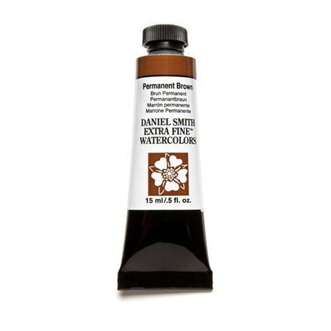 Daniel Smith Extra Fine Watercolor Paint Tube 284600068 15 Ml Permanent Brown