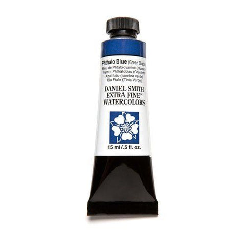 Daniel Smith Extra Fine Watercolor Paint Tube 284600077 15 Ml Phthalo Blue (Green Shade)