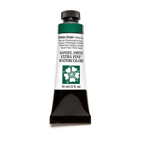 Daniel Smith Extra Fine Watercolor Paint Tube 284600079 15 Ml Phthalo Green (Yellow Shade)