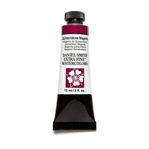 Daniel Smith Extra Fine Watercolor Paint Tube 284600090 15 ML Quinacridone Magenta