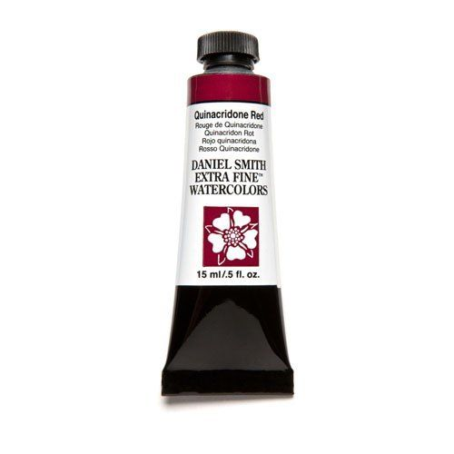 Daniel Smith Extra Fine Watercolor Paint Tube 284600091 15 ML Quinacridone Red