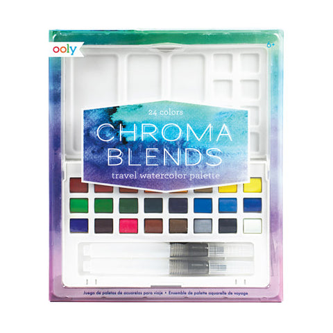 OOLY CHROMA BLENDS 126-010 TRAVEL  WATERCOLOR PALETTE