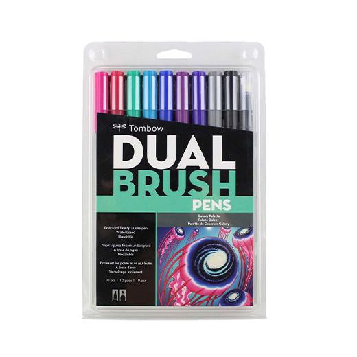 Tombow Brush Marker Abt-10C Ga  Dual Tip Galaxy 10Pcs