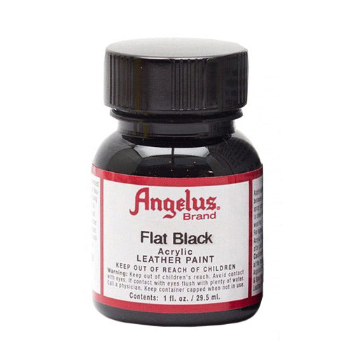 Angelus  Acrylic Leather Paint 720-101 Flat Black 1 Oz