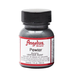 Angelus  Acrylic Leather Paint 732 Metallic-143 Pewter 1 Oz