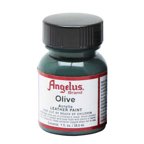 Angelus  Acrylic Leather Paint 720-272 Olive 1 Oz