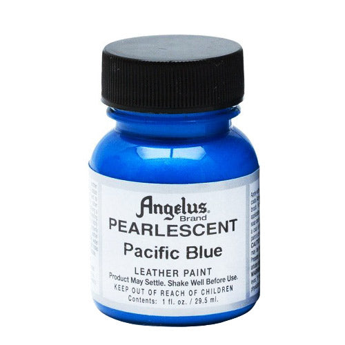 Angelus  Acrylic Leather Paint 733 Pearl-452 Pacific Blue 1 Oz