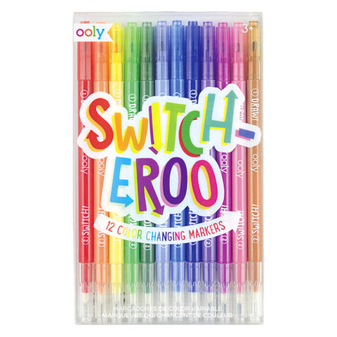 Ooly Color Changing Markers 130-043 Set Of 12 Switcheroo