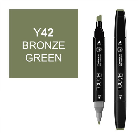 Shinhan Twin Tip Graphic Marker 1110042 Y42 Brnz Grn
