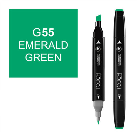 Shinhan Twin Tip Graphic Marker 1110055 G55 Emr Grn