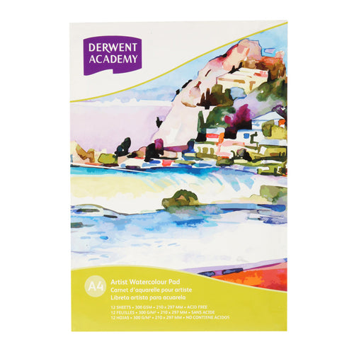 Derwent Watercolor Pad R31220F   A4 12 Sheet