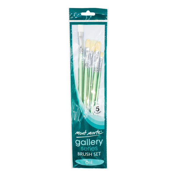 Mont Marte Brush Set BMHS0024 5Pcs Oil Gallery Series
