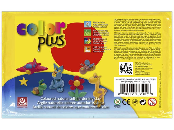 Activa Color Plus Colored Air Dry Clay 6105 1.1 Lb Red