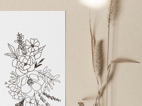 Bloom: A Floral Line Art Class by The After Seven