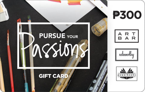 Pursue Your Passions Gift Card - Art Bar