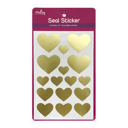 Craftsy Seal Sticker Gold Heart 4Sheets Stk1601