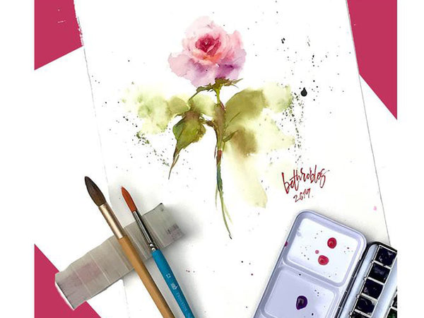 Atmospheric Roses: A Floral Watercolor Painting Workshop by Play Crafts