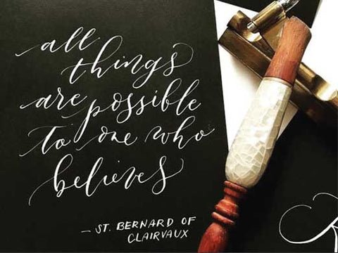 Basic Pointed Pen Calligraphy Workshop