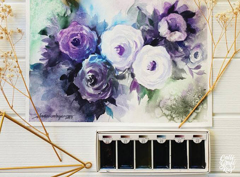 Finding Blooms in Watercolors Workshop by Calligrafikas