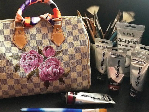 Floral Bag Painting Workshop with Acrylics by Play Crafts