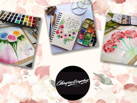 Loose Floral Illustration Workshop by Chayeegraphy