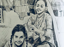 Pencil Sketching by Ayana Chatterjee and Asmi Udassi