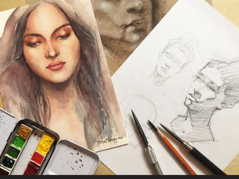 Portrait Drawing & Painting Workshop by Steph Alvarez & Jen Consumido
