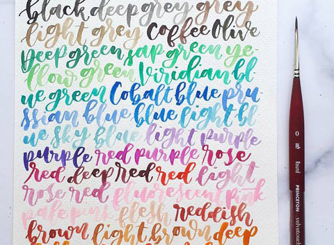 Watercolor and Brush Pen Calligraphy Workshop