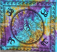 OM Aura Colors Tapestry
