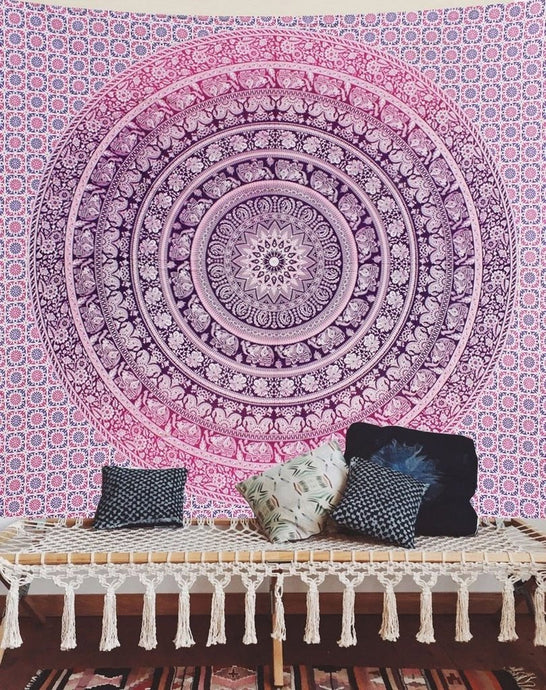 Beautiful Purple Lavender Ombre Elephant Tapestry