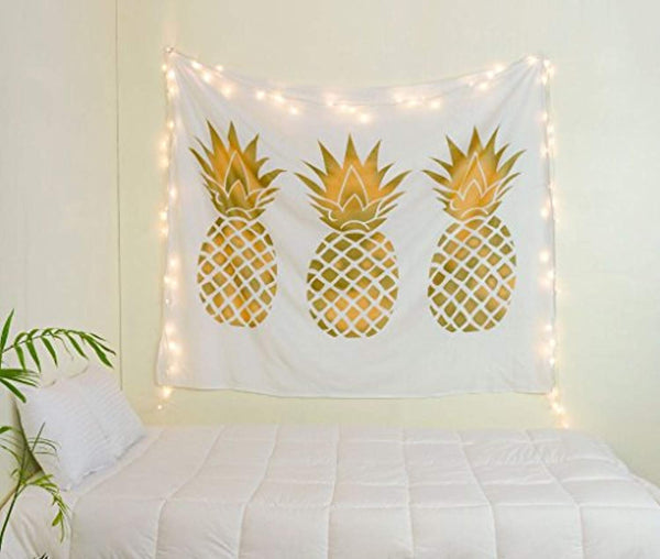Rose Pink Pineapples Tapestry