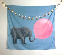 Baby Elephant Blowing Bubble Gum Décor Tapestry