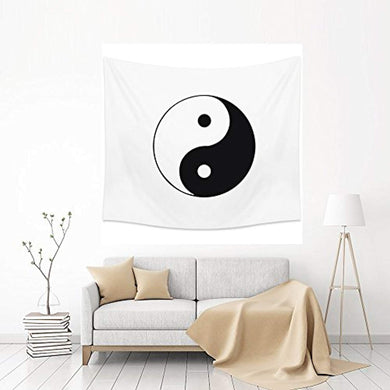 Sun And Moon Yin Yang Décor Tapestry
