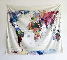 Colourful And Vibrant World Map Tapestry