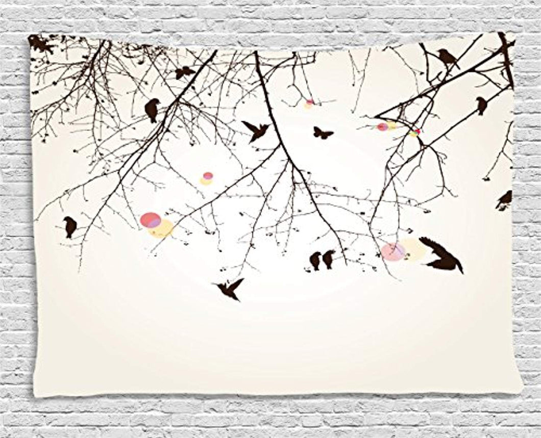 Bare Trees Autumn Landscape Décor Tapestry