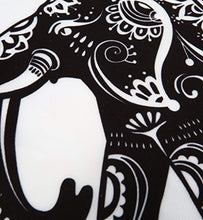 Black And White Elephant Print Décor Tapestry
