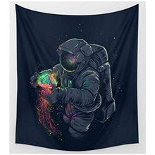 Astronaut In Outer Space Nebula Tapestry