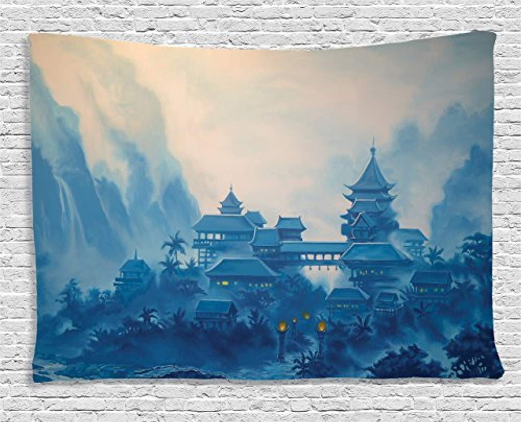 Chinese Landscape Décor Tapestry