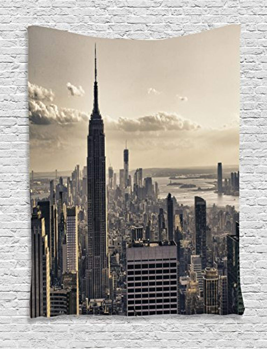 New York City Skyline Décor Tapestry