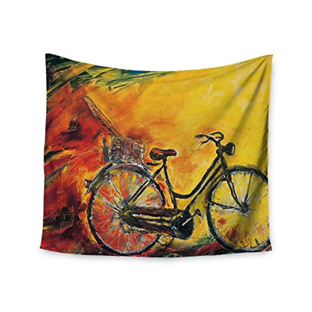 Bicycle Book Shelf Décor Tapestry