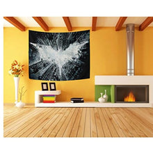 Black and White Bat Décor Tapestry