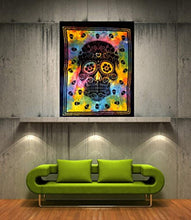Hippie Skull Décor Tapestry